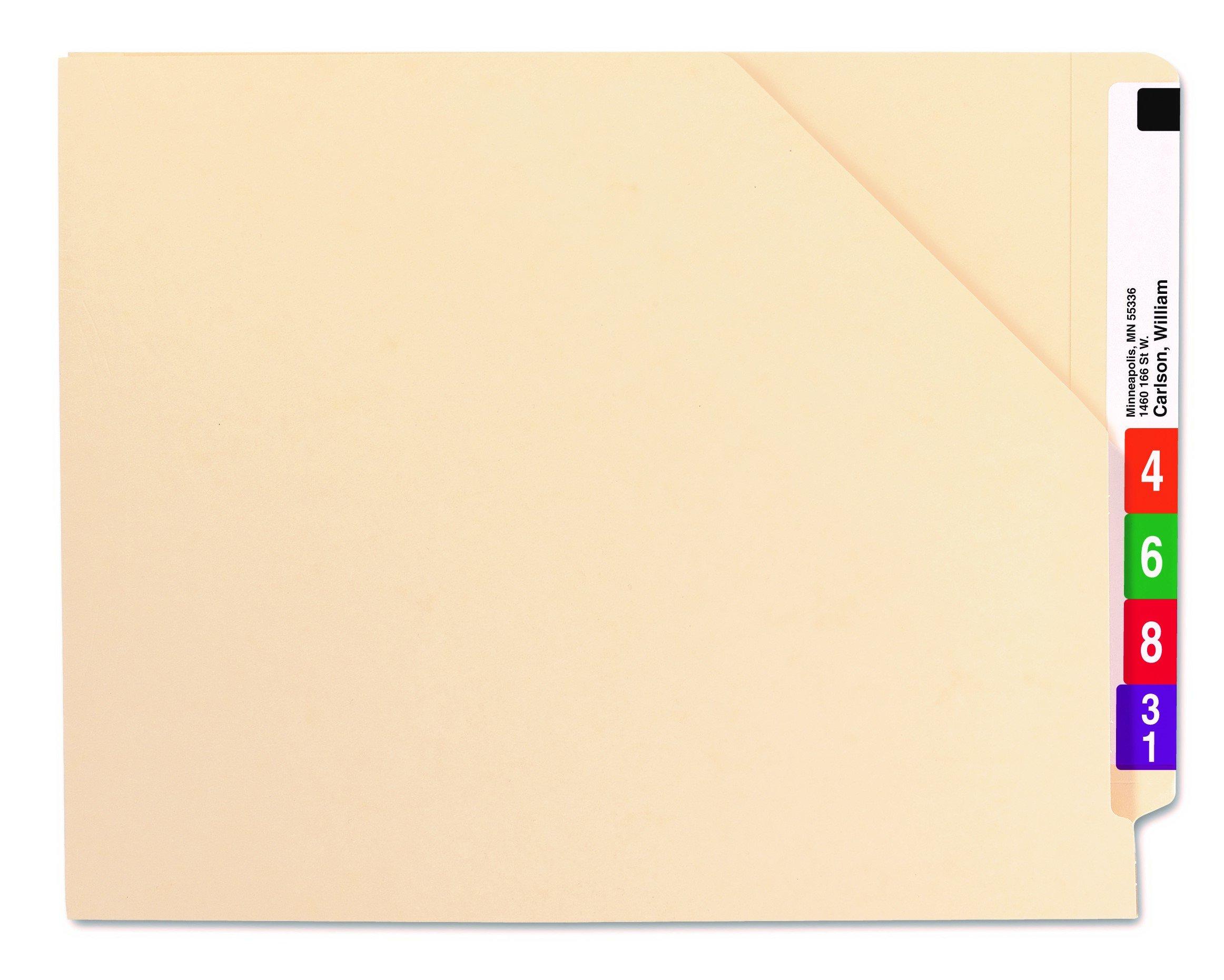 Smead End Tab File Jacket, Shelf-Master Reinforced Straight-Cut Tab, Letter Size, Manila, 100 per Box (75700) by Smead