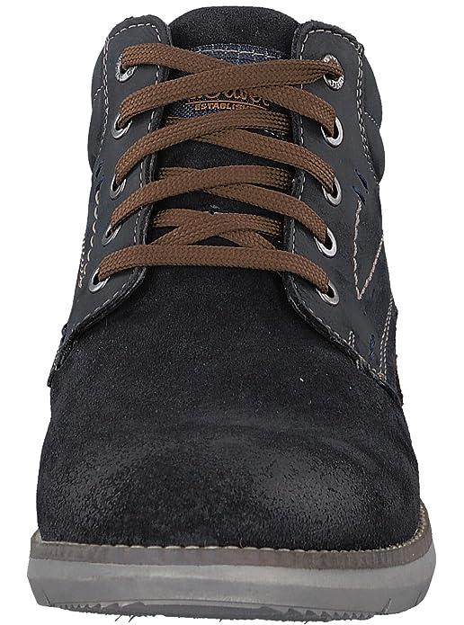 s.Oliver 5-5-15100-29 Sportlicher Herren Sneaker, high top Sneaker, knöchelhoch, Stiefel, Schnürstiefel blau (NAVY), EU 42