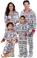 PajamaGram Onesie Nordic Fleece Matching Family Set, Gray