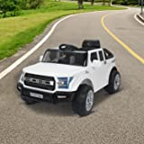 HOMCOM Kids Toy Electric Ride on Car Sport Style 2 Motors 12V Battery Rechargeable Jeep White