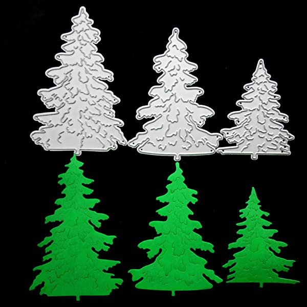 YESZ Die Cuts for Card Making,Christmas Tree Metal Cutting Dies DIY Scrapbooking Paper Card Album Crafts Decor