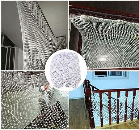 Red de Seguridad para niños BalcóRed de protección Cuerda de Nylon Malla Tejida Blanco, Escalera Balcón Cerca Red Anticaída, Cat Net Red de Seguridad Niños Protección Bebés Decoración, Puede Soportar: Amazon.es: Hogar