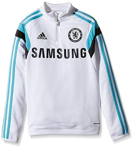 adidas Sweatshirt FC Chelsea - Sudadera de fútbol para niño, Color weiß, Talla 128