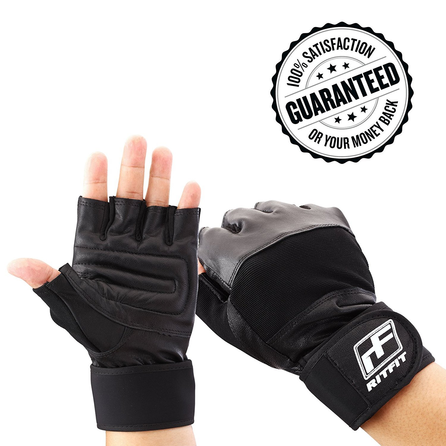 Gym Gloves With Integrated Wrist Support For Gym Workout, CrossFit, Weightlifting, Pullups, Fitness & Cross Training-Genuine Soft Leather-Perfect for Men and Women65281;