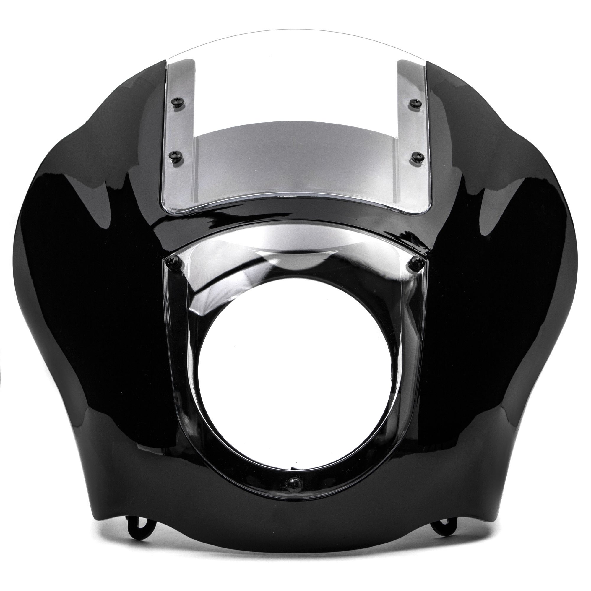 Krator NEW Black & Clear Quarter Fairing Windshield Kit for Harley Davidson XL FXR Dyna