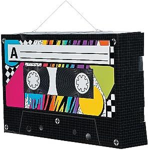 Cassette Tape Hanging Decor (set of 6) 80's Party Decor
