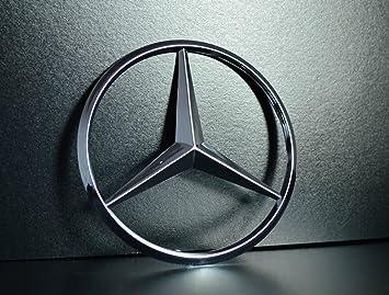 Stemma Mercedes Benz per bagagliaio posteriore, con 3 perni, 90 mm