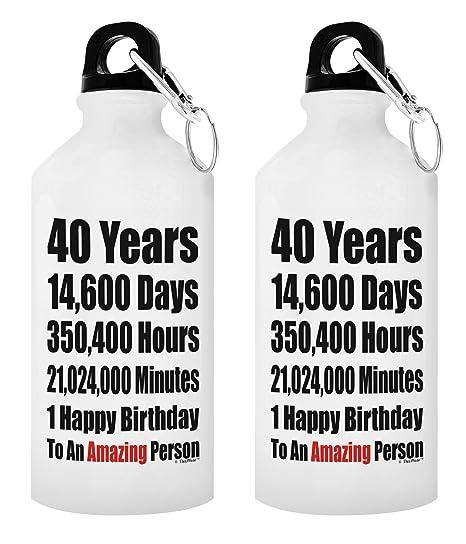 Amazon.com: Regalo sentimental 40 años feliz 40 cumpleaños ...