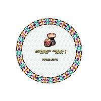 Round awesom habesha placemat set of 6