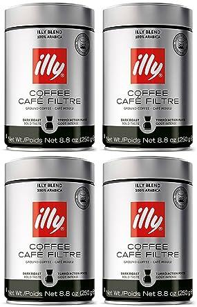 Illy Caffe, Café Scuro Drip Grind (tostado oscuro ...