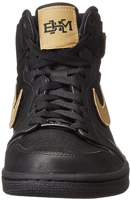 size 40 b5aca b2b38 Amazon.com   Jordan Air 1 Retro High BHM Men s Shoe Black Metallic Gold  Black 908656-001   Basketball