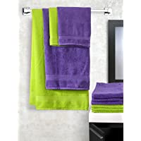 Trident Splash Solid 10 Piece 425 GSM Cotton Towel Set