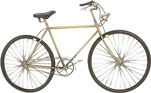 Benzara Antique Colonial Chic Metal Bicycle Wall Decor, Gold