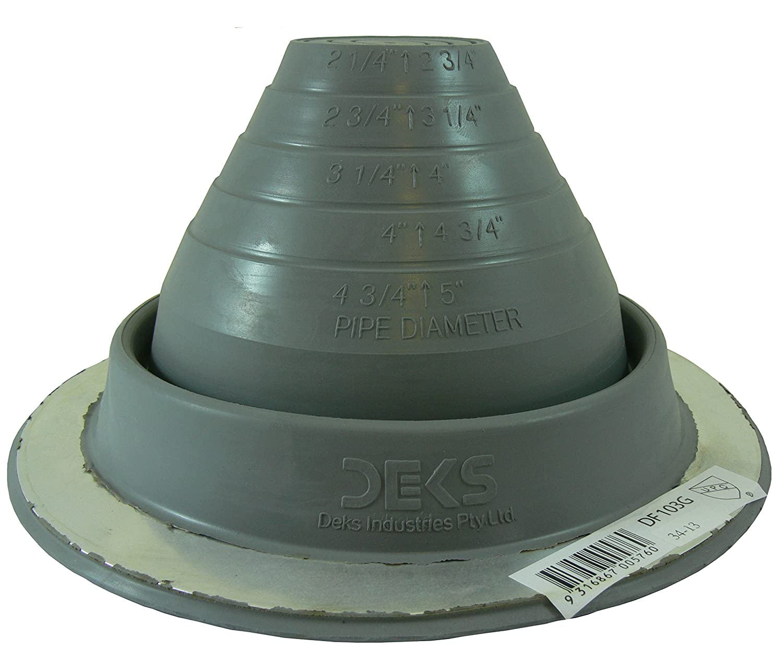 Dektite #3 Grey EPDM Pipe Flashing 1 4 to 4