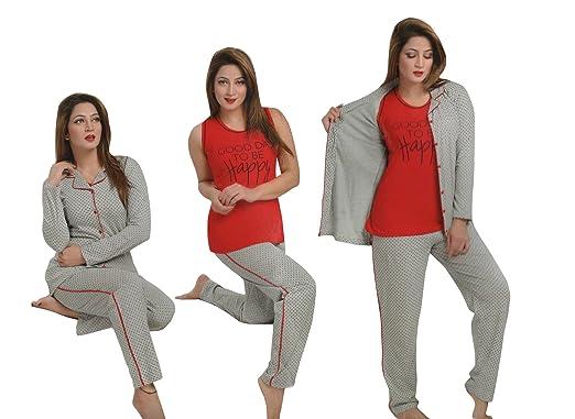 526487416f8a THE ORANGE TAGS WOMENS 3PC PYJAMA SET TOP JOGGING PANTS SPORTS WEAR  NIGHTSUIT PJS  Amazon.co.uk  Clothing