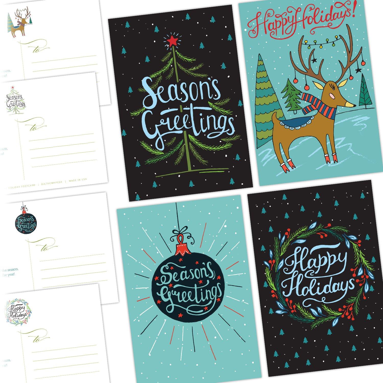 Amazon e Jade Lane Merry Holiday POSTCARDS 40 Ct Holiday