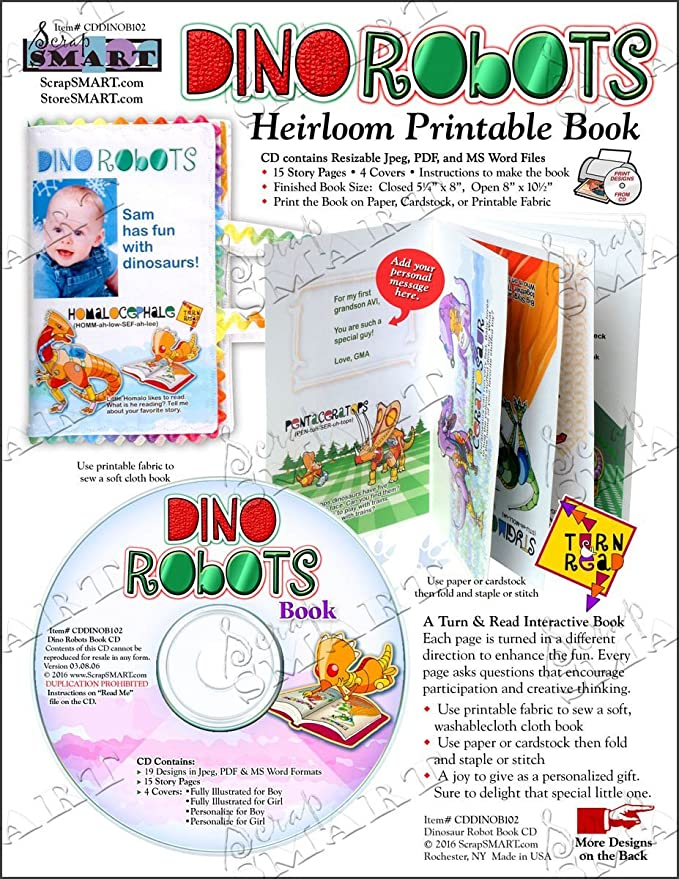 amazon com scrapsmart dino robots childrens book software