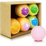 F-color Bath Bombs Gift Set with Organic Natural Ingredients for Moisturizing Dry Skin & Relaxation