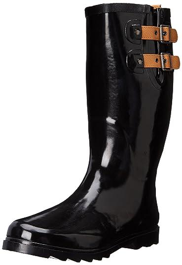Chooka Chooka Women s Tall Rain Boot Black Matte Best Deals