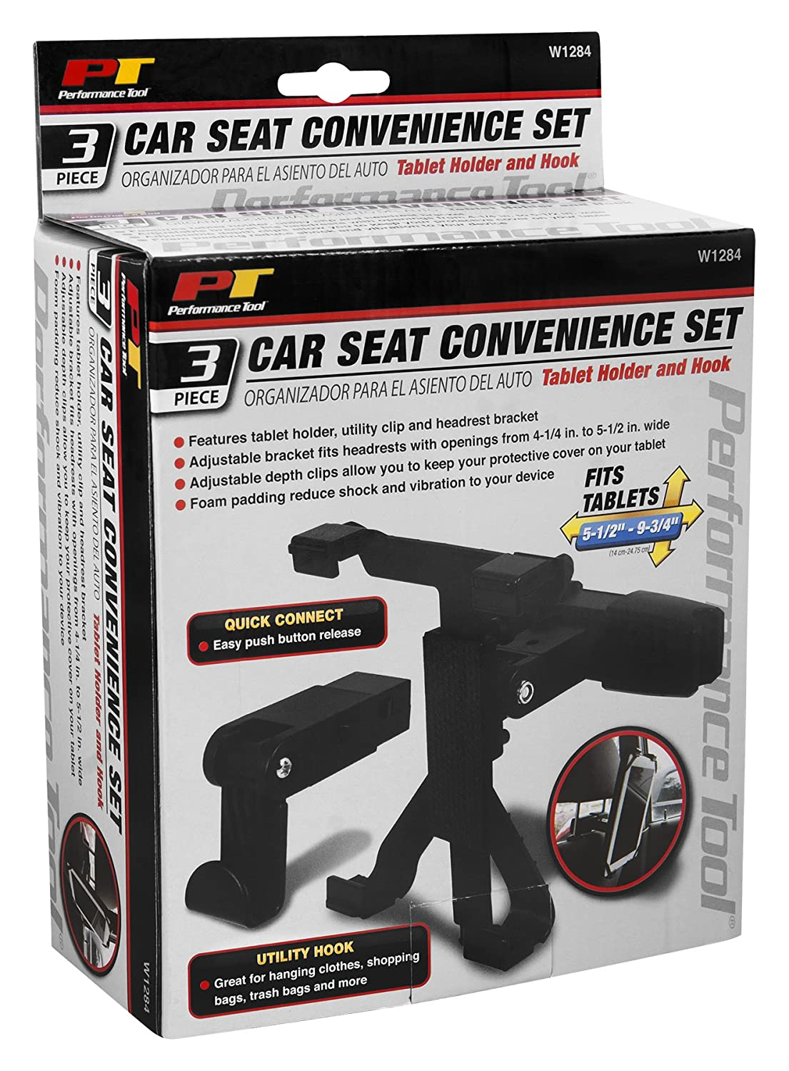 Performance Tool W1284 3pc Car Seat Convenience Set