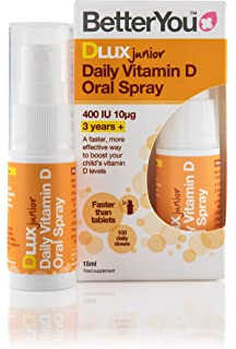 BetterYou D Lux Junior Vit D Oral Spray 15 ML (order 6 for retail outer