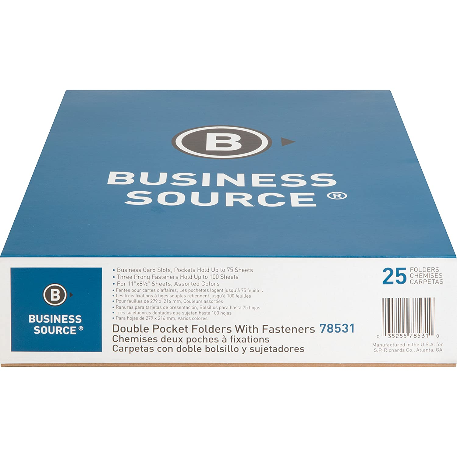 Amazon.com : Business Source Storage Pockets Fastener Folders : Expanding File Jackets And Pockets : Office Products