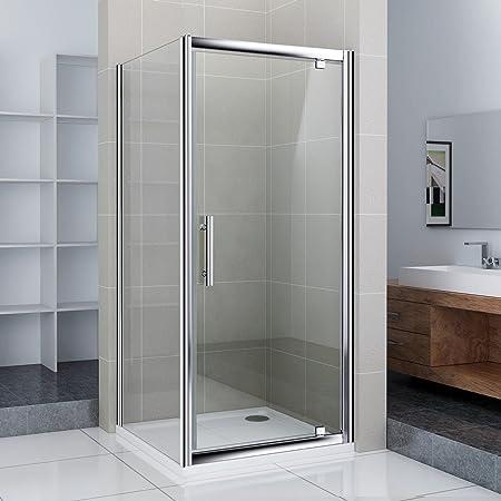 90 x 80 x 185 cm Mampara de ducha colgante Puerta ducha pared puerta de ducha con ducha Taza (NS9 – 90 + NS3 – 70 + asr8090): Amazon.es: Hogar