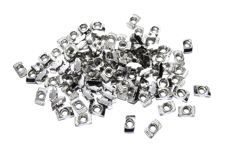 100 piezas M4 T tuerca CNC 2020 marco aluminio impresora 3D plata ...