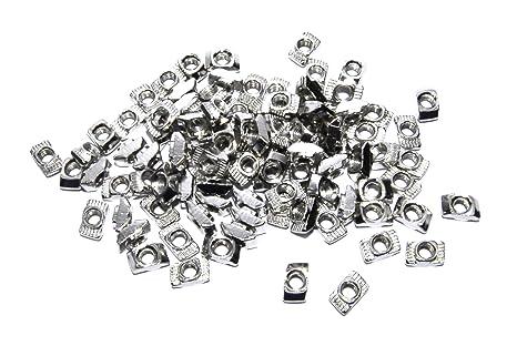 100pcs T Nut CNC 2020 m³ 4 5 Cadre en aluminium imprimante 3D argent Flux atelier