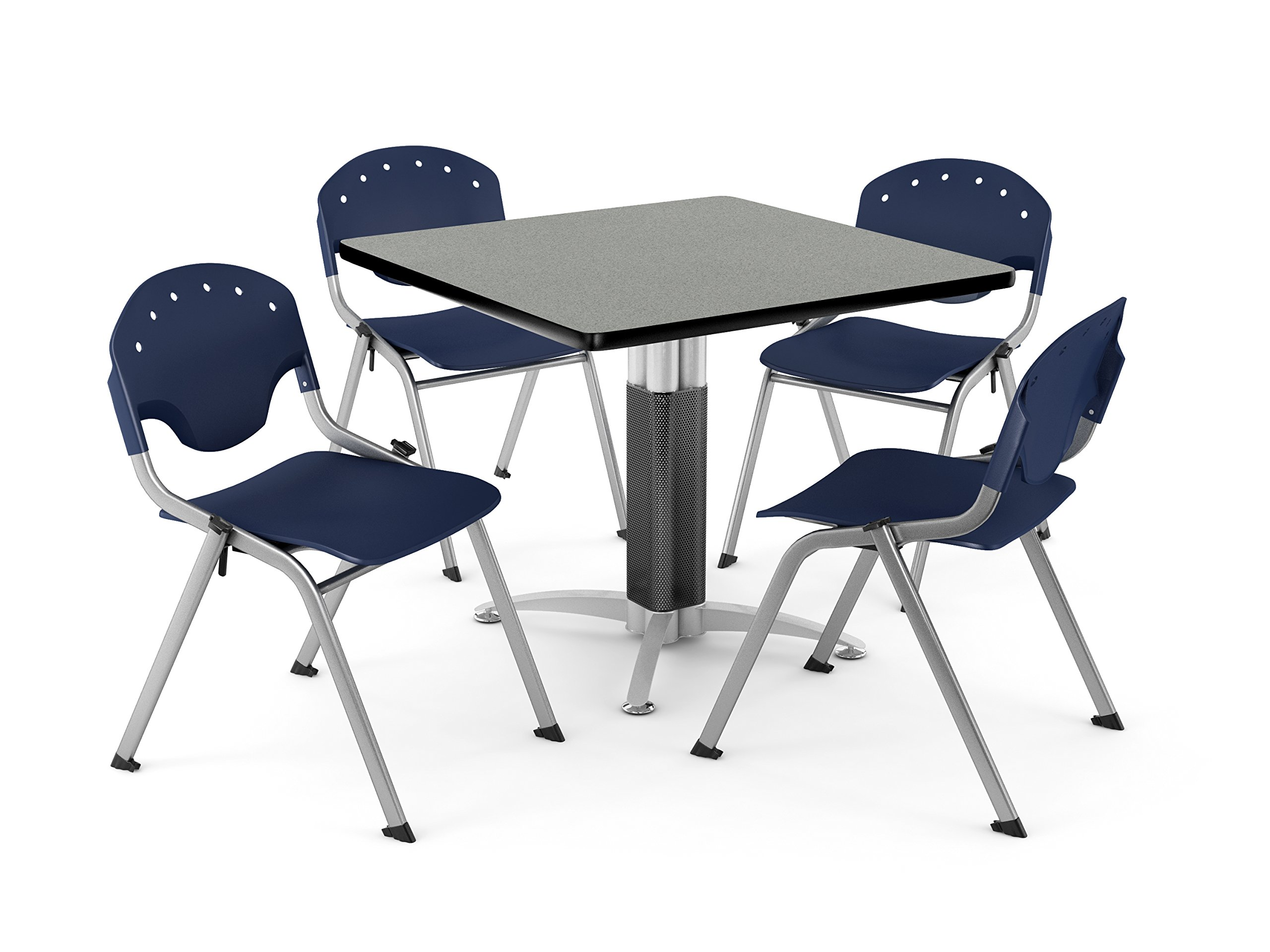 OFM PKG-BRK-024-0011 Breakroom Package, Gray Nebula Table/Navy Chair