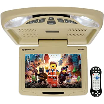 amazon com rockville rvd10hd bg 10 1 flip down monitor dvd player rh amazon com