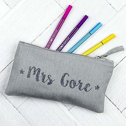 Estuche para profesores, color Grey case - Glitter text ...
