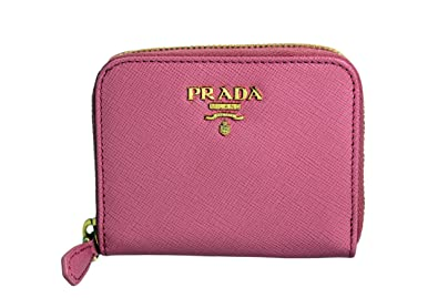 98b058be2d69 Image Unavailable. Image not available for. Color: Prada Saffiano Metal Zip  Around Mini Wallet ...