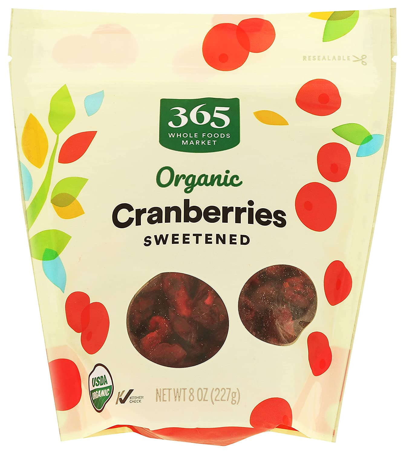 365 by Whole Foods Market, Organic Dried Fruit, Cranberries - Sweetened, 8 Ounce