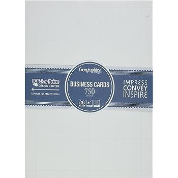 Amazon geographics standard printable business cards geo44480 geographics standard printable business cards geo44480 colourmoves