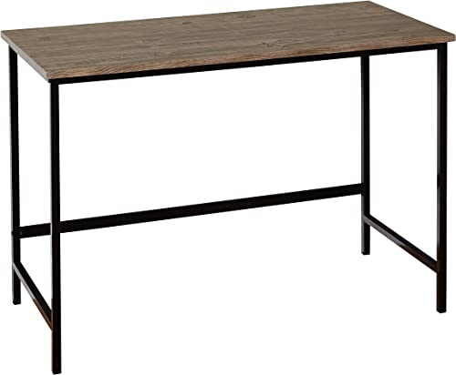 Target Marketing Systems Piazza Collection Modern Reclaimed Style Writing Office Desk, Wood Metal