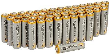 AmazonBasics - Pilas alcalinas AA Performance (Paquete de 48) - Diseño variable