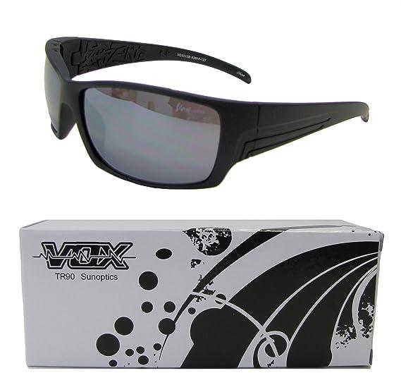 deb15f15a5d8 Vox TR90 Sport Sunglasses Unbreakable Superlight Wrap Full Frame UV 400  Cycling Fishing Golf - Matte