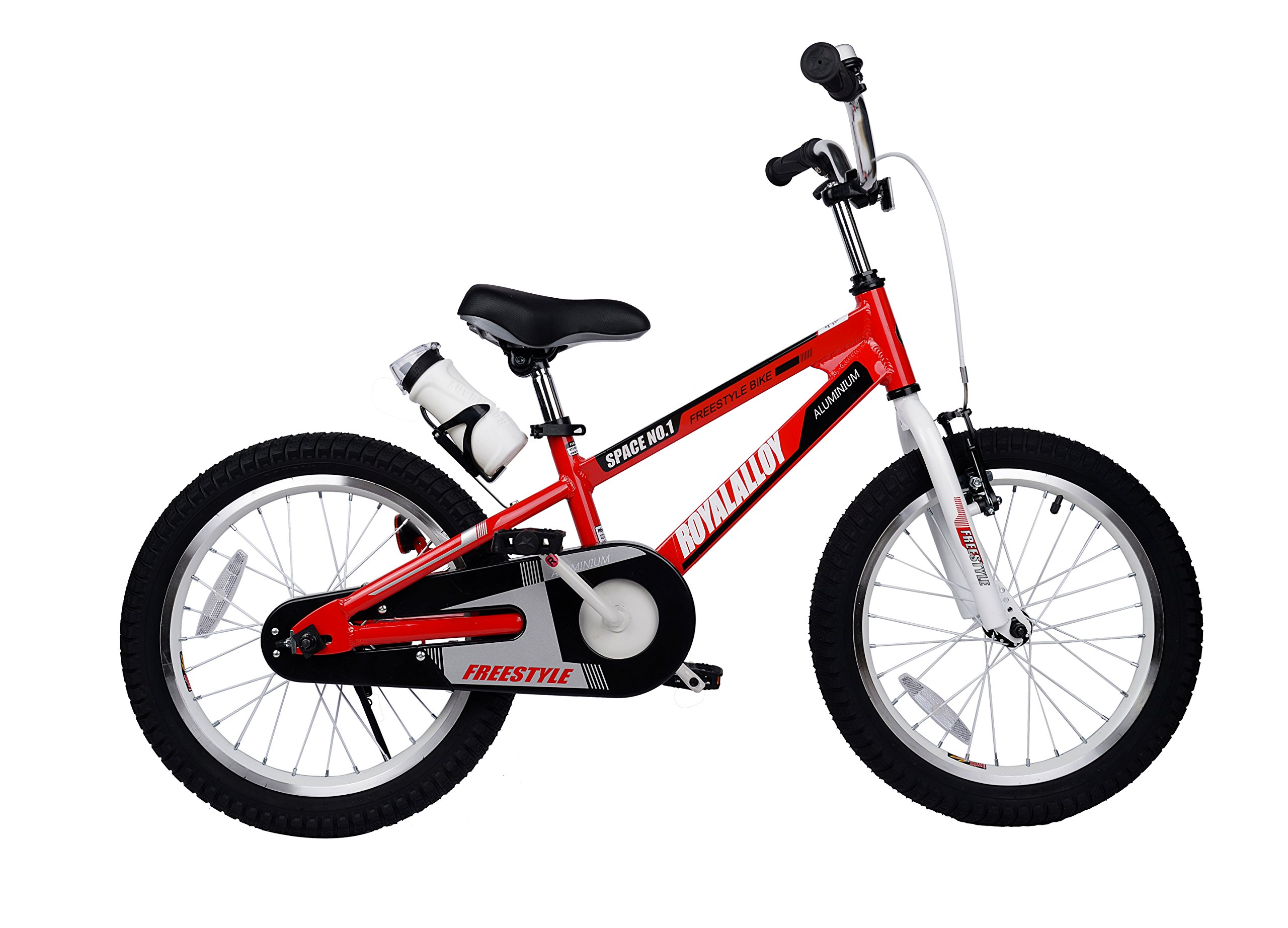 Royalbaby Space No. 1 Aluminum Kid's Bike, 18 inch Wheels, Red
