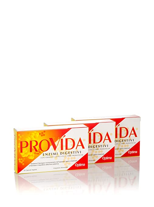 Optima - Provida - Enzimas digestivas - 30 cápsulas x 3 unidades ...