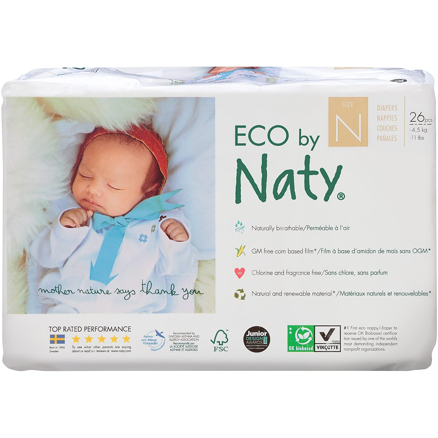 Amazon.com: Branded Naty, ECO By Naty Diapers, Newborn, 26 Diapers , - Branded Diapers with fast delivery (Soft and Comfortable for Babies): Health ...