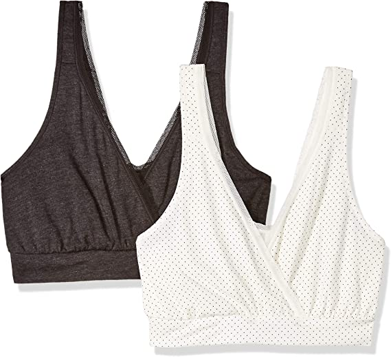 Playtex Women's Nursing Pullover Sleep Bra 2-Pack