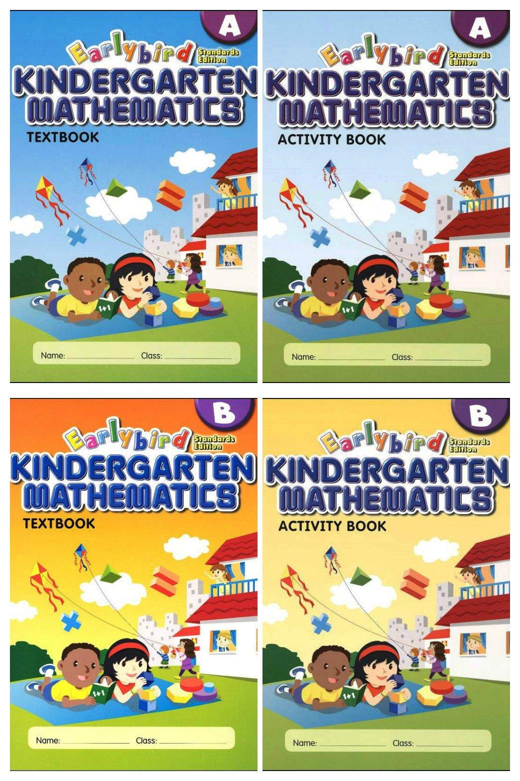 Earlybird Kindergarten Mathematics 4 Books Set (Standard Edition ...