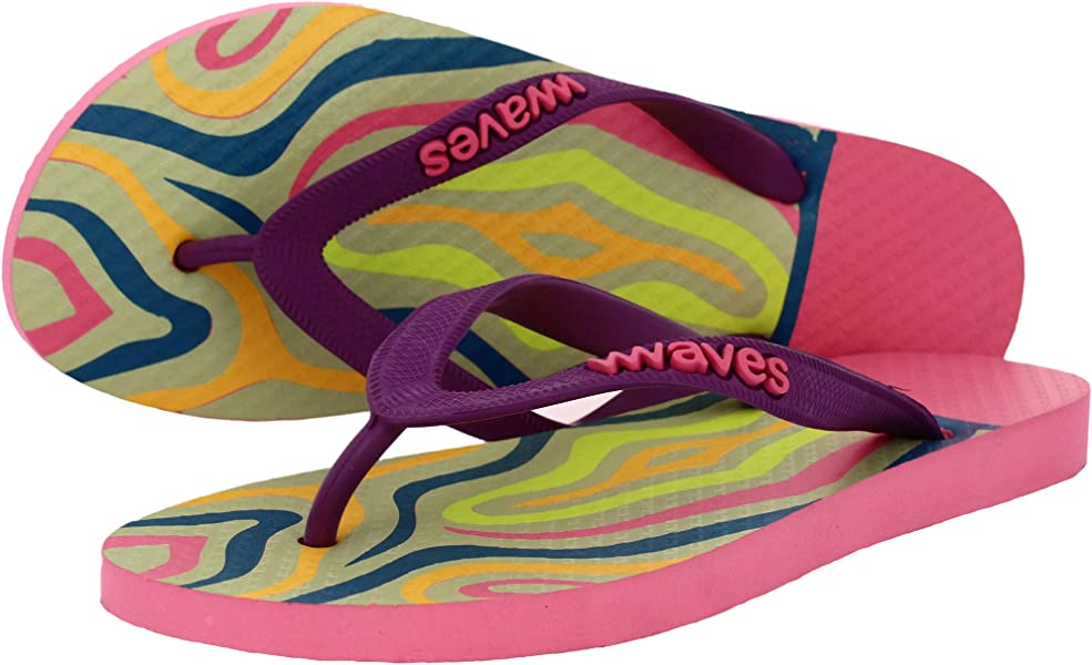 f897db6e6 Waves 100% Natural Rubber Flip Flops Women Ladies Regular Fit Sandals  Slippers - Tapered Collection