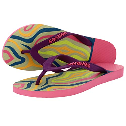5d6e14047 Waves 100% Natural Rubber Flip Flops Women Ladies Regular Fit Sandals  Slippers - Tapered Collection
