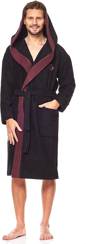 Extr/êmement L/éger 9111 Peignoir Court de en Tissu Eponge pour Hommes L/&L Robe de Chambre /à Capuche pour Hommes.