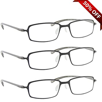 04fb5f02b7b Reading Glasses   Best 3 Pack Gray for Men and Women   Have a Stylish Look