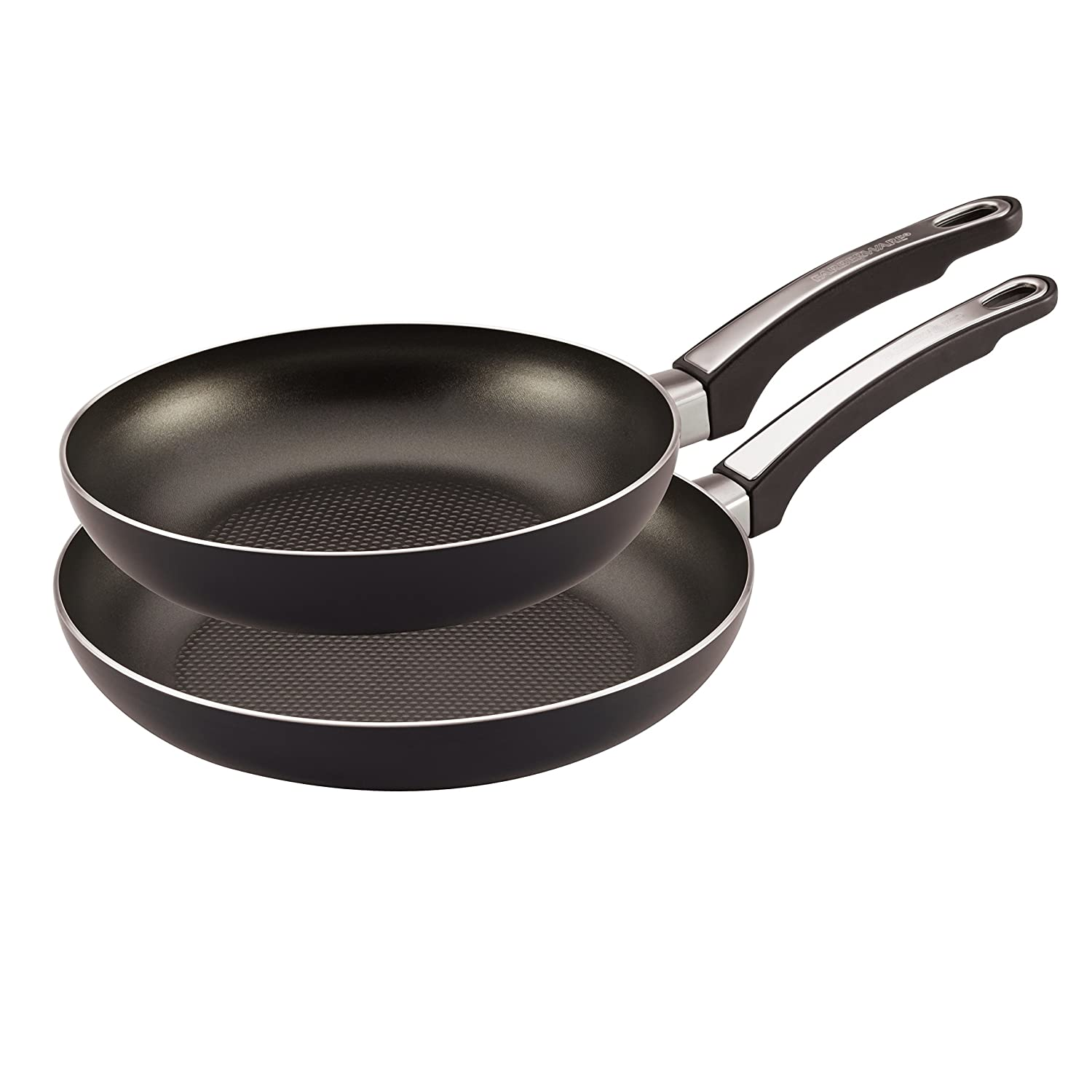 Farberware High Performance Nonstick Aluminum 9-Inch and 11-Inch Twin Pack Skillet Set, Black Meyer 21746
