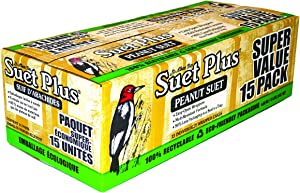 ST. ALBANS BAY SUET PLUS Suet Cake 15 Pack | 11 oz. Suet Cakes for Wild Birds|