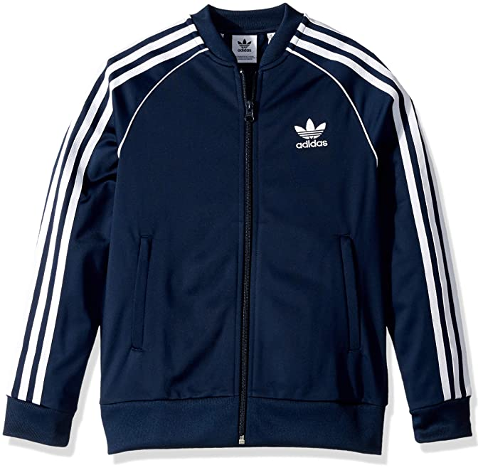 adidas Originals Boys' Big Superstar Jacket, blackwhite, Medium